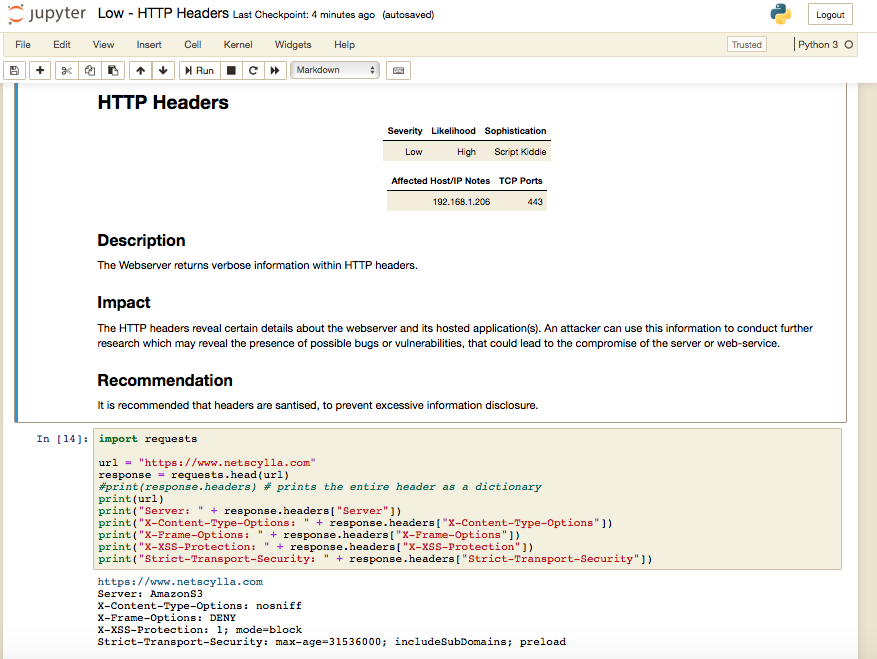 Sample HTTP Headers